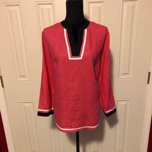 Talbots linen tunic